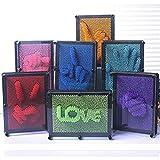 Xshuai Art Pression Designs 3D Clone Handprint Toy, Novelty Antistresss Clone Fingerprint Needle Painting, Plastic Pin Impression Hand Mold for Home and Office Desktop Sculpture-Christmas Kids Gift (Random)