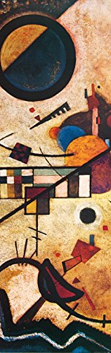 Kandinsky Kunst Poster (1art1 82593 Wassily Kandinsky - Gegenklänge, 1924, 1-Teilig Selbstklebende Fototapete Poster-Tapete 240 x 75 cm)
