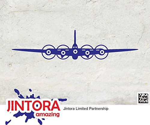 JINTORA Aufkleber für Auto/Autoaufkleber- Plane Four Propeller - 149x34mm - JDM/Die cut - Bus - Fenster - Heckscheibe - Laptop - LKW - Tuning - blau - 0132 Laptop