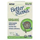 NOW Foods - meglio Zero di Stevia dolcificante calorico certificata biologica - 75 pacchetto (i)