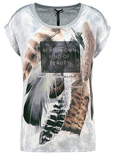 Key Largo Damen T-Shirt WT Own Feder Vintage Look Weisheit Grau XL