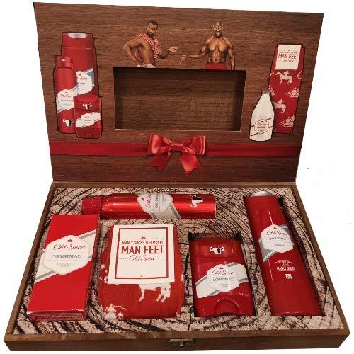 ++ LIMITIERT Edition ++ Old Spice Original Holz BOX Geschenk Set 6 teilig WoW