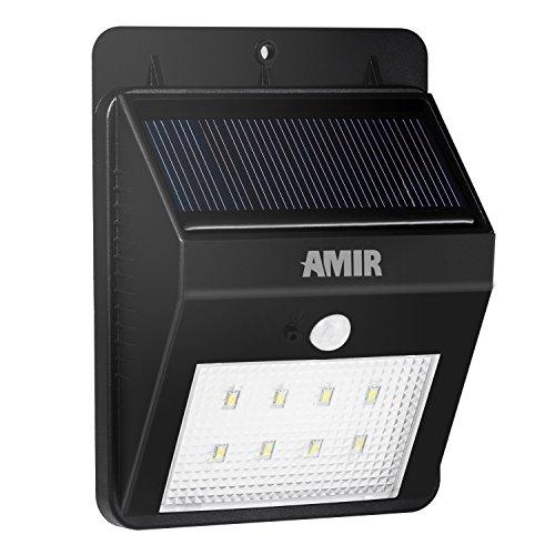 [Upgrade 8 LED] Amir? Wireless Solarleuchte Mit Bewegungsmelder / Outdoor Solarlampe Wandleuchte fš¹r Garten, Haushofs, Hausgang, Garage, Veranda, Terrasse, Wege