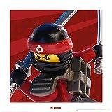 1art1 107482 The Lego Ninjago Movie - Kai Smith Poster Kunstdruck 40 x 40 cm