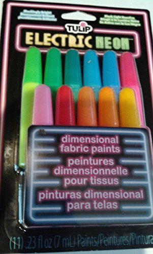 Tulip 11pc Dimensional Blacklight Fabric Paint Squeeze Pen Set by (Blacklight Pen)