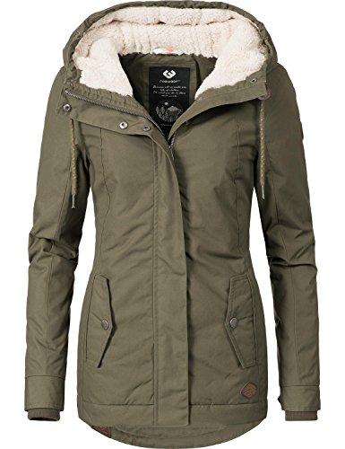 Ragwear Damen Jacke Winterjacke YM-Monade (vegan hergestellt) Khaki Gr. M