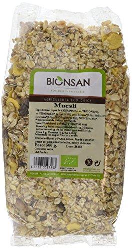 Bionsan Muesli de Cultivo Ecológico - 6 Paquetes de 500 gr - Total: 3