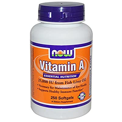 Vitamin A, 25.000 IU - 100 softgels by NOW Foods M from NOW Foods