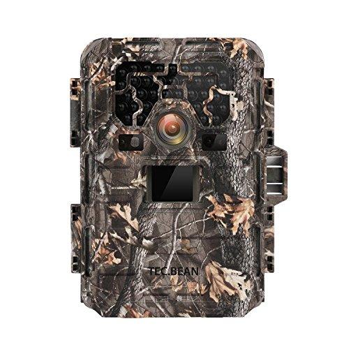 Tec.Bean Wildkamera (5.08 cm (2,0 Zoll) LCD-Display, 12MP, 1080P HD, FoV 60 Grad, 940nm No-Glow Infrarot Fotofalle, 23m Nachtsicht, Wasserdicht IP66) SG-009