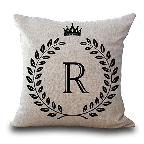 Venkaite federa cuscini alfabeto inglese cotone misto lino federe per cuscino decorazione domestica 45x45cm