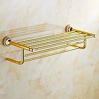 ZHGI Blu e Oro bianco a doppia porta asciugamani bagno Asciugamani asciugamani da bagno bar