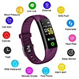 Fitness Trackers,LIGE Pulsmesser Intelligentes Armband Aktivitäts Tracker Bluetooth Schrittzähler mit Schlafüberwachung Kalorienzähler Smartwatch für Android oder iOS Smartphones für Erwachsene Kinder