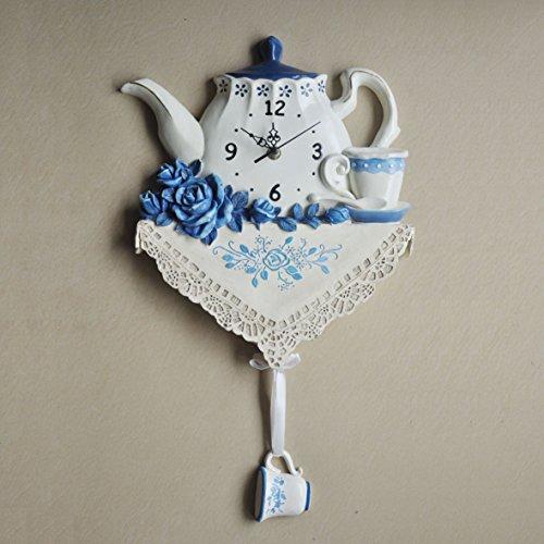SL&HEY Orologio da parete mute creative wall-clock brocca blu styling caratteristiche di resina di esistenti orologio Home