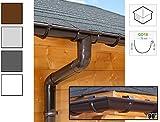 Dachrinnen/ Regenrinnen Set   viereckiges Dach (4 Seiten)   GD16   in anthrazit, weiß, braun oder grau! (Umriss bis 14.00 m (Kompl. Set), Braun)
