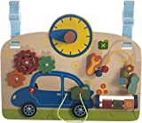 Bieco 74003255 - Baby Holz Aktivity Center Autowerkstatt, ca. 40 x 31 x 7,2 cm