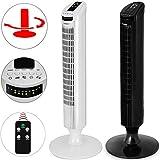 Monzana® Turmventilator 90° Rotation mit Fernbedienung 3 Stufen 84cm Timerfunktion weiß - Säulenventilator Standventilator Luftkühler Ventilator