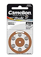 Camelion 15056312 A312 Battery - Multicolour (Pack of 6)