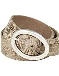 Ledergürtel mit ovaler Altsilberschließe, 4cm Breite