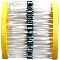 Homyl 100 Stück 5 Farbbänder Ringe Hohe Präzision 1% Metallschichtwiderstand 1k Ohm