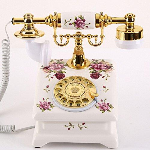 Arbeiten Sie Kreatives Keramisches Antikes Telefon Drehscheibe Europäisches Hirten-Retro- Festnetztelefon des Festnetztelefons Zu Hause Um