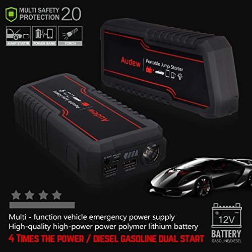 AUDEW-Avviatore-di-Emergenza-Auto-Jump-Starter-Portatil-Power-Bank-12000mAh-650A-12V-Per-AutoMotoBarcheCamion-Built-In-LED-Flashlight