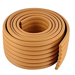 Wood Color : SODIAL(R) Furniture Corner Edge Safety Cushion Guard Wood Color with Adhesive Tape