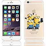 New Disney trasparente Cartoons character Minnions and others trasparente in poliuretano termoplastico per iPhone-Cover per Apple iPhone (iphone 7 /iphone 8, Minions taking Selfe)