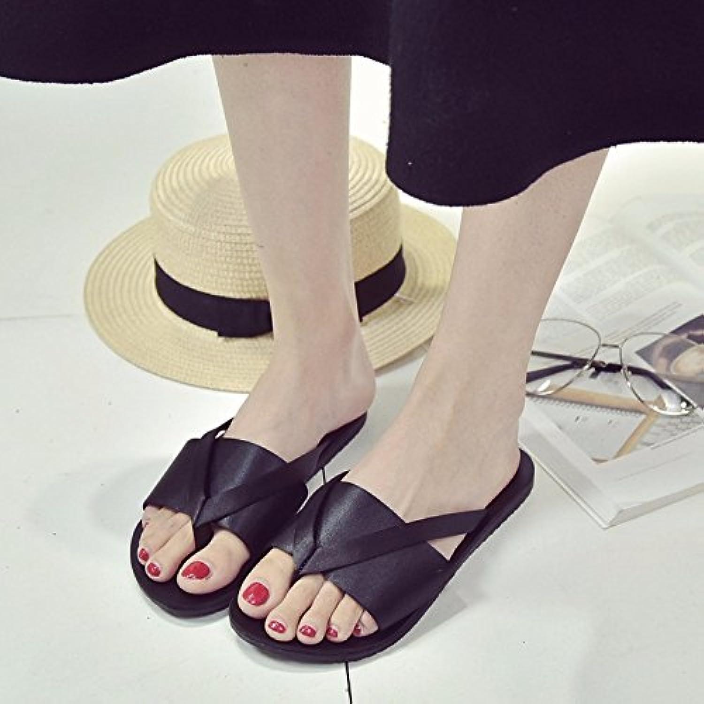 LIUXINDA-XZ Liuxinda - Zapatillas de verano con zapatillas y zapatillas, negro, 3.5 UK