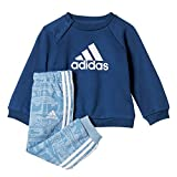 adidas Jungen French Terry Jogginganzug Trainingsanzug, Tacblu/Mysblu/White, 86