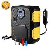 Mbuynow Auto Kompressor, Auto Reifenpumpe 12 V Kompressor Pumpe für Autos mit LED-Licht und Digital-Manometer,10 Bar/15