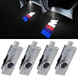 LED Door Projectors Car Ghost Shadow Welcome Step M Logo Emblem Light (4-pack)