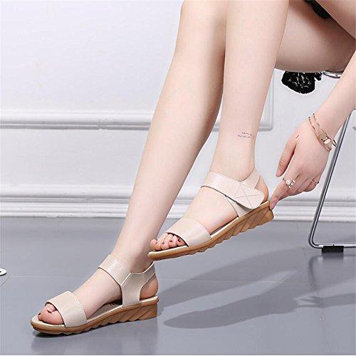 XZGC - Scarpe con cinturino alla caviglia Donna Bianco latte