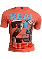 T-Shirt Life Theme Colourful Overprint Classic Summer Casual Slim Fit