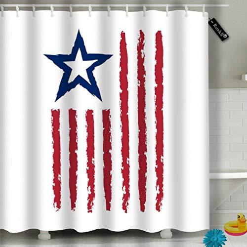 Randell Bathroom Shower Curtain Quote Autumn Love Shap Leaf Umbrella Rain Waterproof Fabric Shower Curtain 60(W) X 72(L) Inches For Men Women Kids