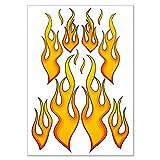 Autocollant «fire racing flames 'incendie flammes de 12 stickers autocollants à feuilles dIN a4