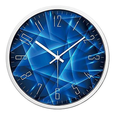 Moderne Stille Große Uhr Quarz Uhr Silent Sweep Wanduhr ( Farbe : White frame 14 in )