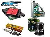 SERVICE SET für KTM Duke 125 2011-16: Ölfilter, Luftfilter, Zündkerzen und Öl