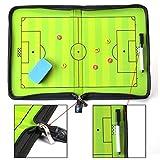 AGPTek® Coach-Board Coach-Mappe für Fußball Professional Fußball Taktikmappe, mit Magnete, Stifte, Radiergummi - 4
