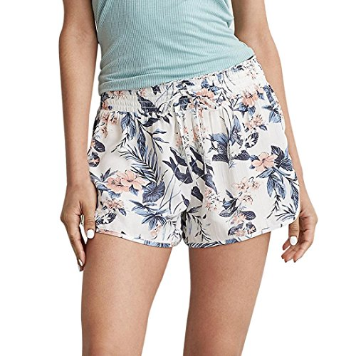 Weste Sexy Hippie Kostüme (Damen Short Hose Internet Sommer gedruckte beiläufige hohe Taille kurze Hose (XL,)