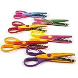 KABEER ART® 6 Pieces Art and Craft Zig zag Paper Shaper Scissor Set- 1606-6