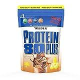 WEIDER Protein 80 Plus Eiweißpulver, Haselnuss-Nougat, Low-Carb, Mehrkomponenten Casein Whey Mix für Proteinshakes, 500g