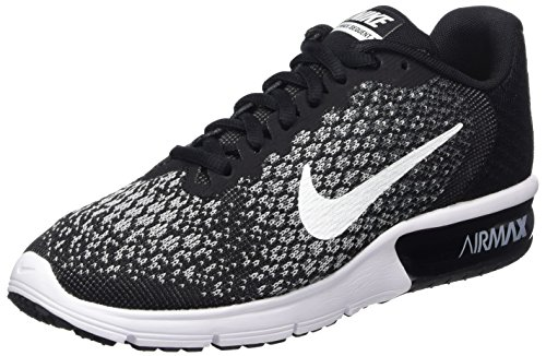 Nike Damen Wmns Air Max Sequent 2 Laufschuhe, Schwarz (Noir/Gris Foncé/Gris Loup/Blanc), 39 EU (Wmns Air)