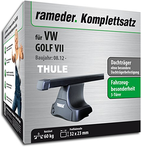 Rameder Komplettsatz, Dachträger SquareBar für VW GOLF VII (116548-10585-1)