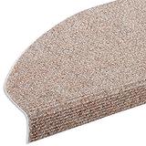 casa pura Textilfaser - Stufenmatten für attraktive & sichere Treppenstufen | Set mit 15 Stück | robuste Allzweck-Matten für Stufen (beige)