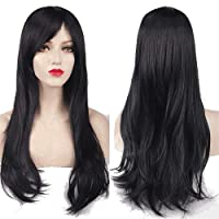Charming Women's Long Curly Full Hair Wig - Black