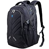Laptop Rucksack 17,3 Zoll mit Regenschutz Durchlass für wasserdicht als Daypack für Buisiness schul Reisetasche für Männer and Frau Passend für Alle 17,3 Zoll schwarz by OUTJOY