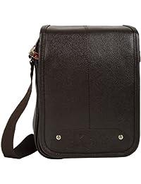 KLARK Unisex Sling Bag (Brown, FMS-986 BROWN)