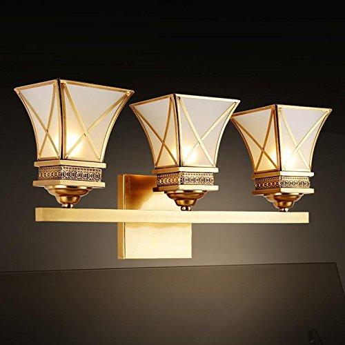 DYBLING Balcon personnalisé Création artistique moderne minimaliste simple Village Led 65*15cm cuivre Extérieur Intérieur Applique murale