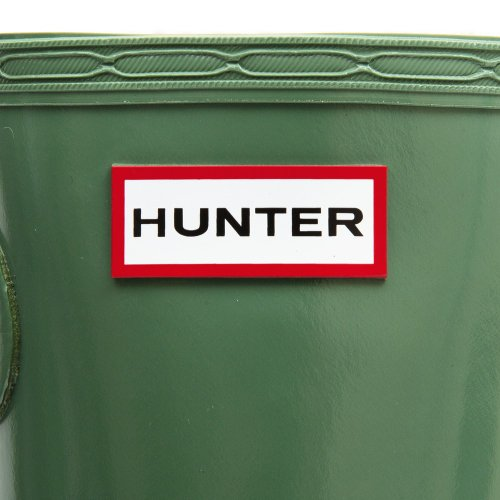 Hunter Original Tall Gloss w23616, Damen Stiefel Moss Green