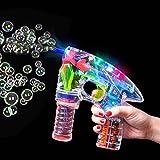 German Trendseller® - LED pistolet à bulles de savon┃bubble gun pour des enfants┃ Light up ┃lumineuse┃ petit cadeau┃l'anniversaire d'enfant